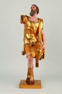 legno dipinto e dorato, 88 cm