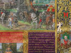 Bibbia, terzo volume, Salterio e Nuovo testamento, 1489-1490, Plut. 15.17. c. 3r, miniature di Monte (e Gherardo?) di Giovanni