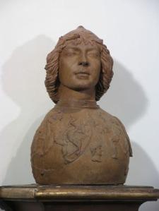 04. Antonio del Pollaiolo, Busto di giovane in armatura da parata