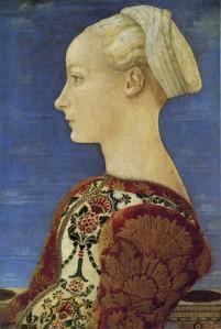 26. Piero del Pollaiolo, Ritratto di giovane donna, Berlino Gemaldegalerie