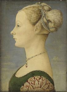 27. Piero del Pollaiolo, Ritratto di giovane donna, Milano Poldi Pezzoli