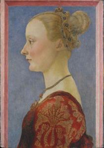 28. Piero del Pollaiolo, Ritratto di giovane donna, New York Metropolitan Museum