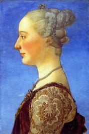 29. Piero del Pollaiolo, Ritratto di donna, Firenze Uffizi